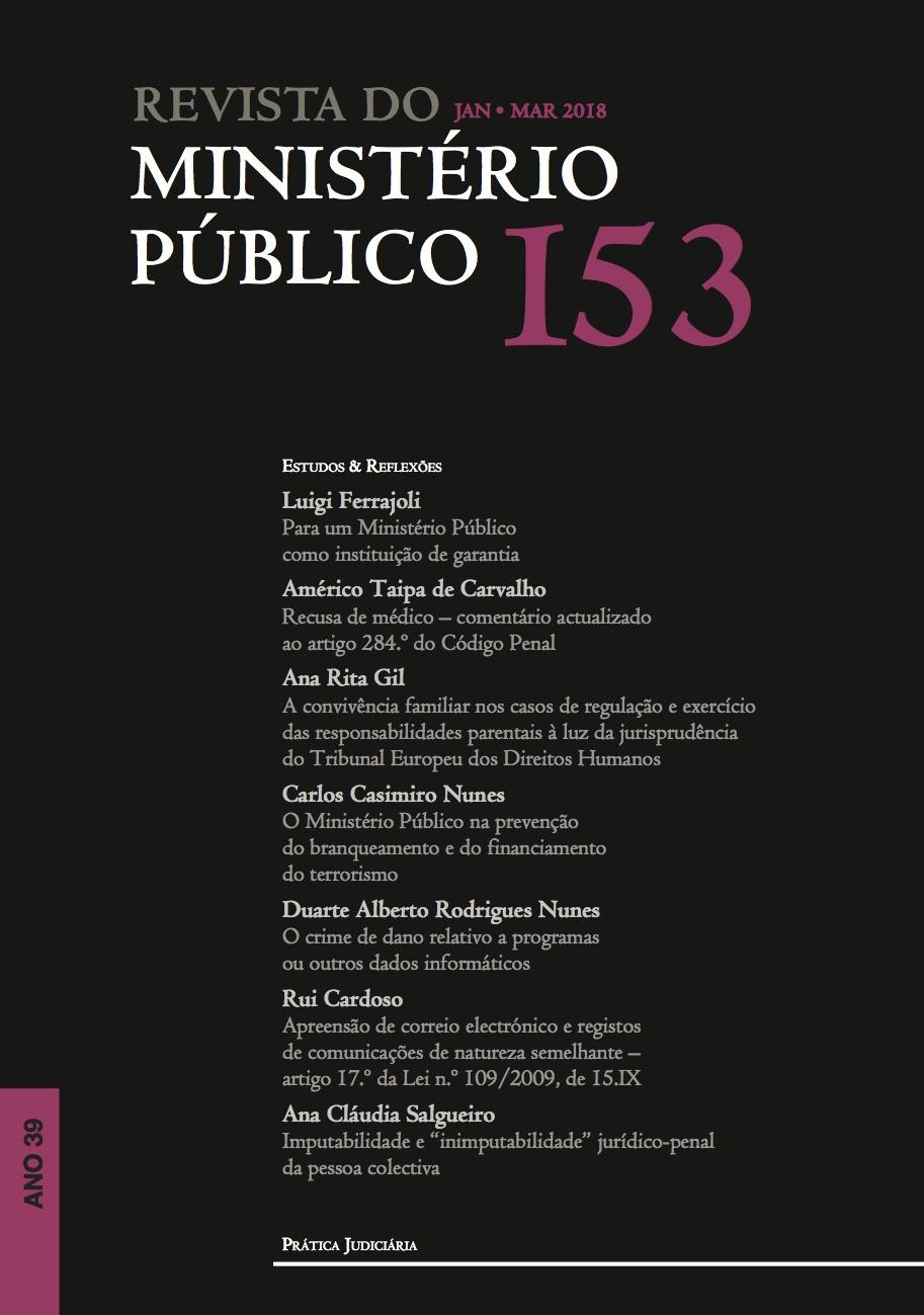 Revista do Ministério Público Nº 153