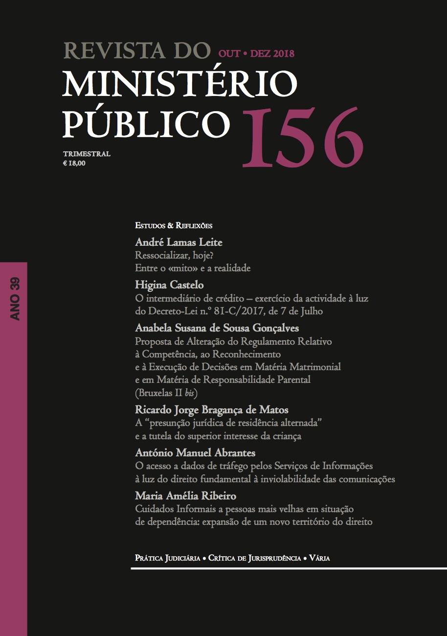 Revista do Ministério Público Nº 156